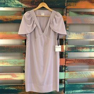 RED VALENTINO Purple Rose Tea Shift Dress Size 10